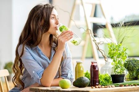 wellness content; drinking fresh water