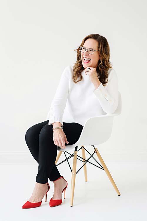 Christy Pretzinger sitting
