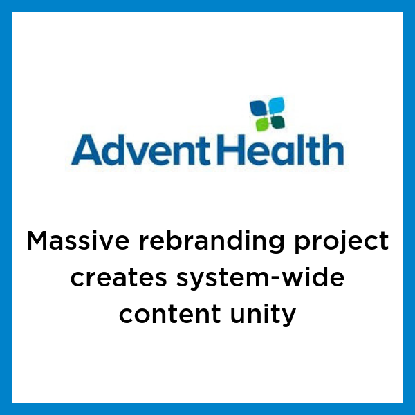 AdventHealth rebranding case study