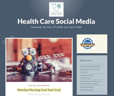 Healthcare social media blog