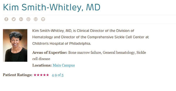 Physician's online biography