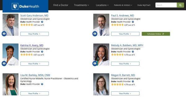 Duke health physician bio directory