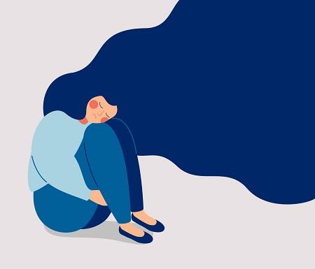 Remote work isolation illustration