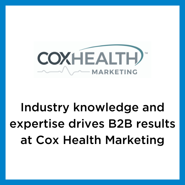 Cox Health Marketing thought leadership case study logo