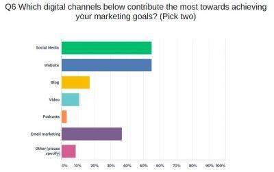 Survey response graph for top digital marketing channels
