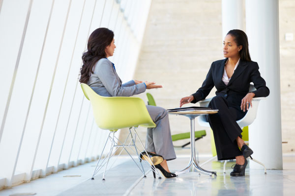Woman who is ghostwriting for the CEO conducting an interview