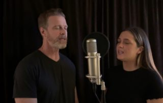 Johnny and Emma Delagrange singing 'Healthcare Heroes'
