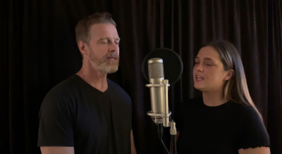 Johnny and Emma Delagrange singing 'Healthcare Heroes'