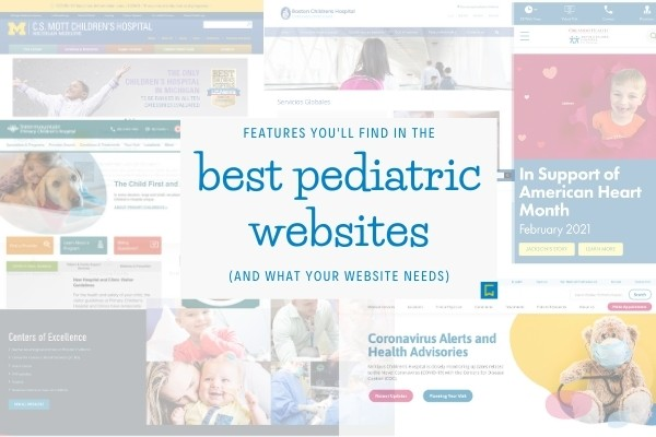 collage of the best pediatric website screenshots