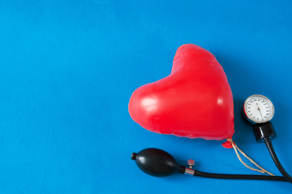 Heart-shaped balloon with a stethescope